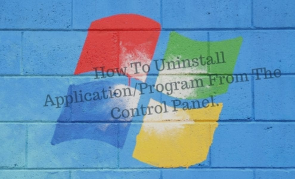Uninstall Application_Program from the control panel