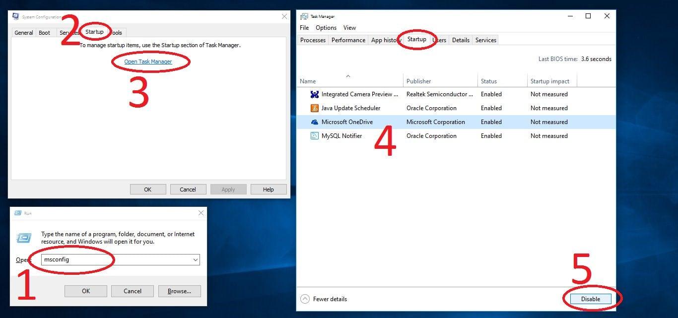 Disable Auto Start App - Windows 10