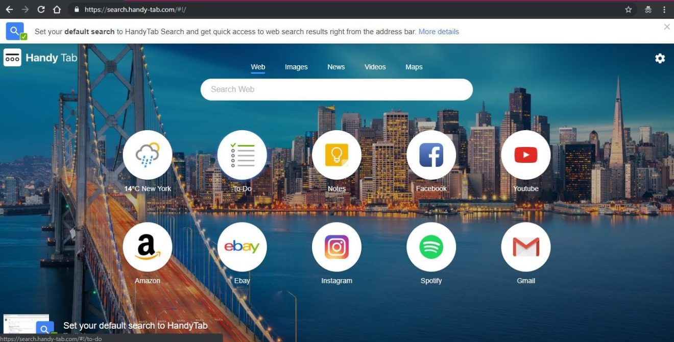 How to Remove Handy Tab extension