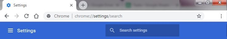 Reset Chrome Browser Search Engine 1