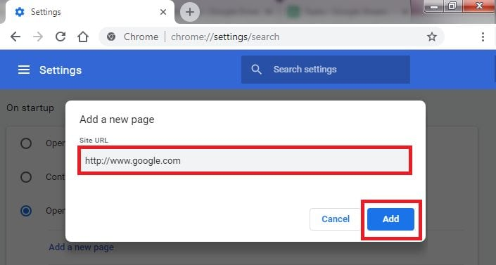 Reset Chrome Browser Search Engine 5