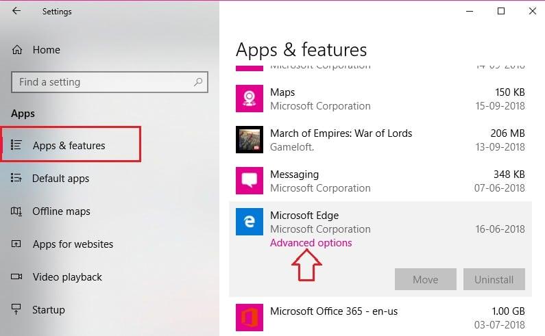 Reset Microsoft Edge Step 3