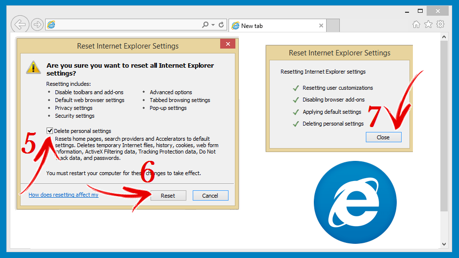 Resetting Internet Explorer Image 2