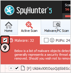 "Select ""Microsoft Has Detected A Malicious Virus Alert"" To Remove"