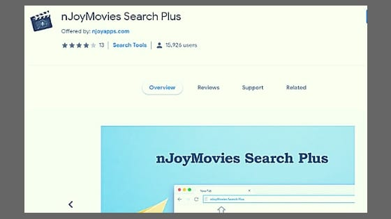 NJoyMovies Search Plus extension