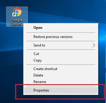 Chrome Browser Property