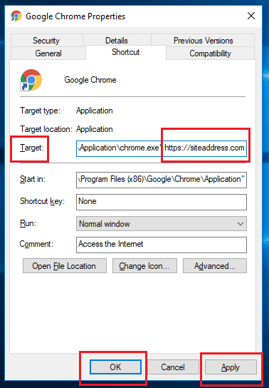 Remove Unwanted URL from Browser Property