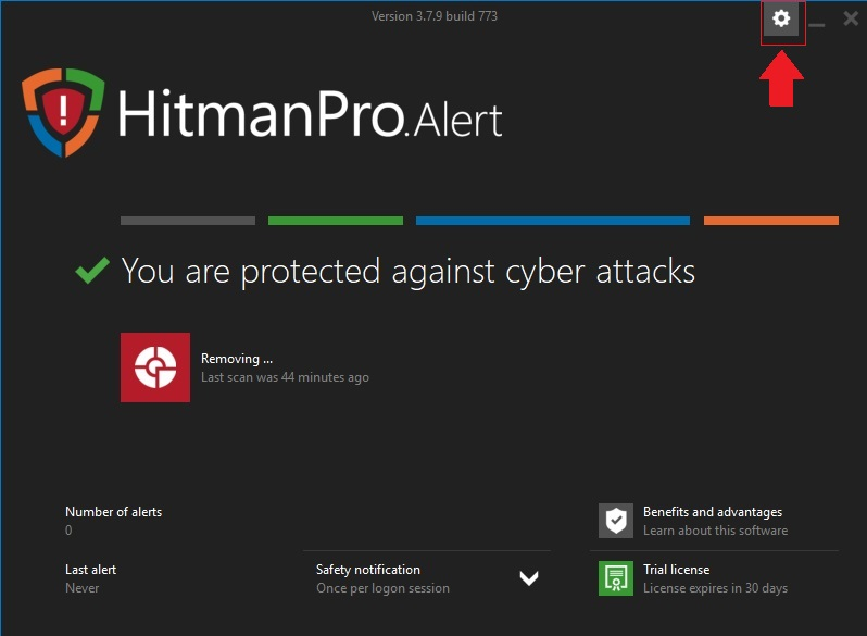 HitmanPro.Alert Advanced Settings