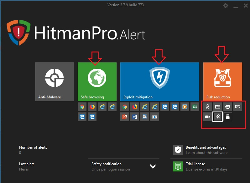HitmanPro.Alert Advanced Interface