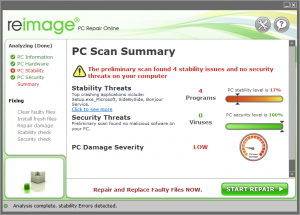reimage To repair IDP.Generic virus