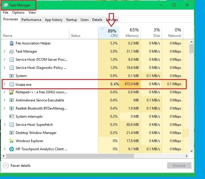 Wuapp.exe CPU miner