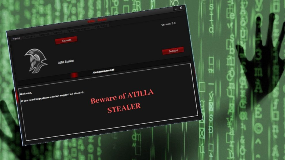 Remove ATILLA STEALER RAT Virus