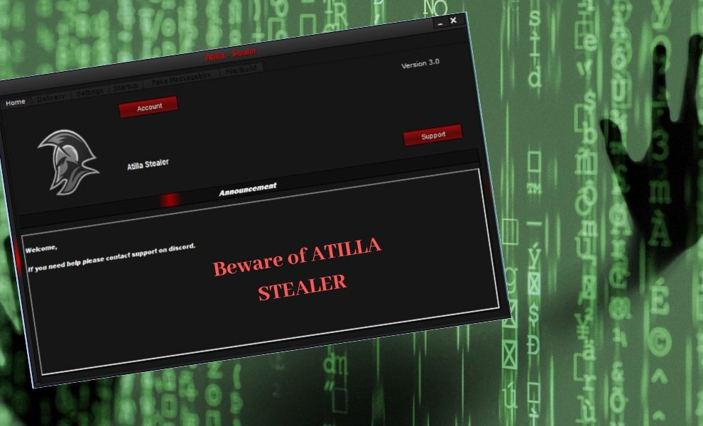 How To Remove Atilla Stealer RAT Virus - Cyber security