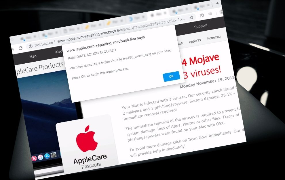 Remove Apple.com-scan-macbook.live From Mac