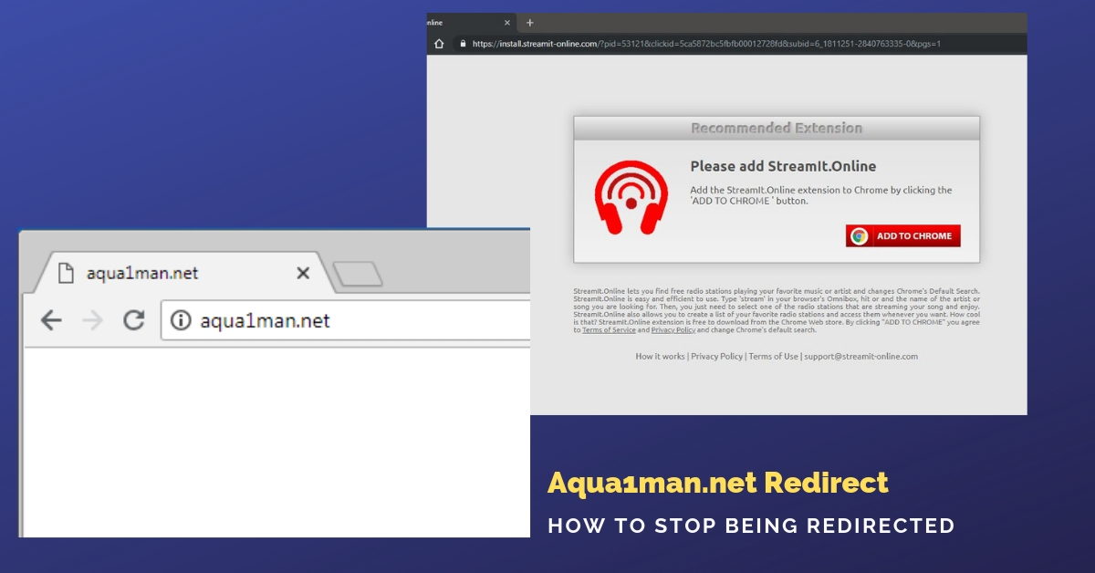 Remove Aqua1man.net redirect