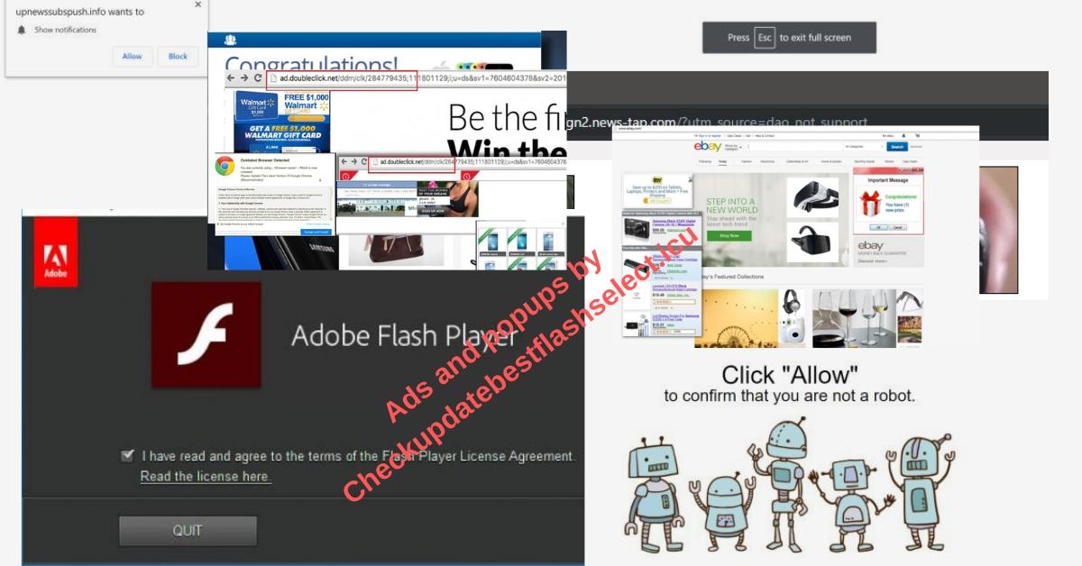 Remove Checkupdatebestflashselect.icu redirect ads