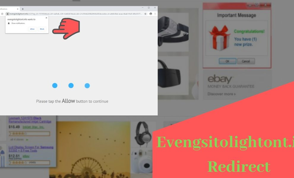 Remove Evengsitolightont.info redirect popup