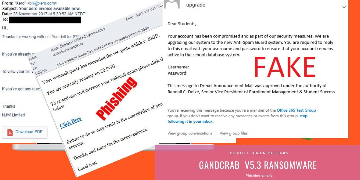 GandCrab V5.3 Ransomware spreads via phishing emails