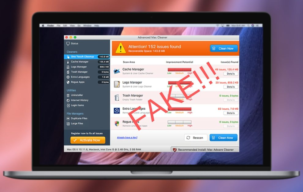 Remove Advanced Mac Cleaner Adware From Mac OS X - Cyber security