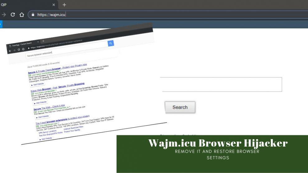 Remove Wajm.icu Browser Hijacker