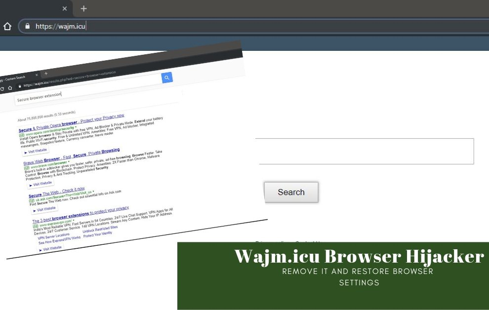 Remove Wajm.icu Browser Hijacker