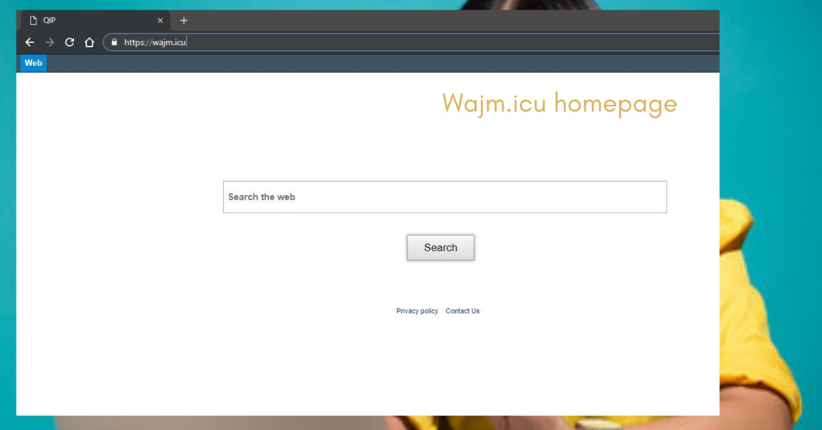 Remove Wajm.icu homepage
