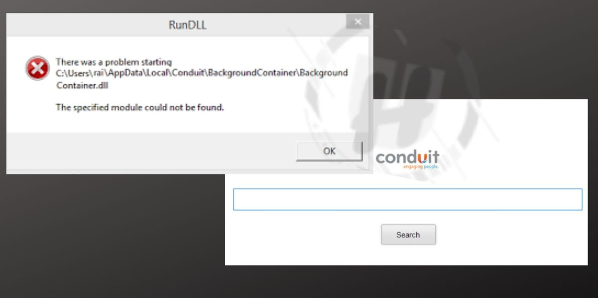 BackgroundContainer.dll Error Caused by Conduit Search