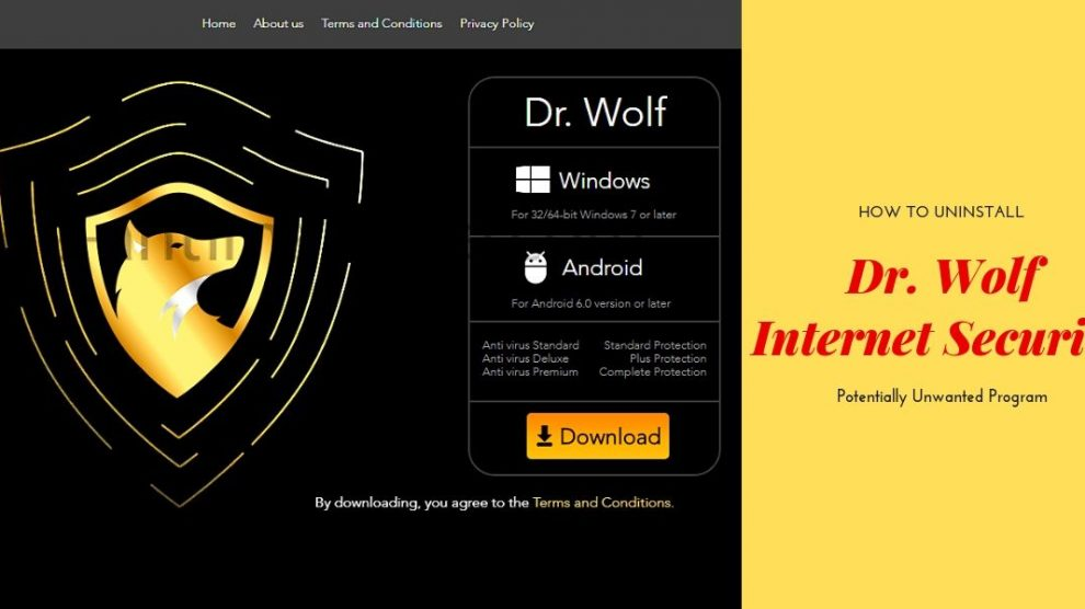 Remove Dr. Wolf Internet Security