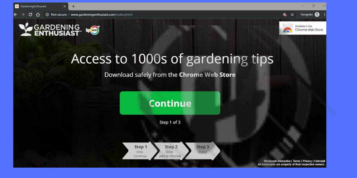 Gardeningenthusiast.com Redirect Recommends To Install Gardening Enthusiast Extension