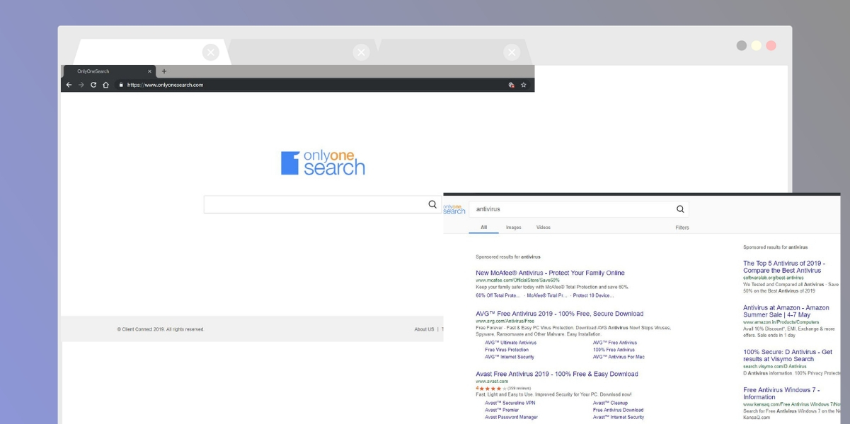 Onlyonesearch.com Browser hijacker