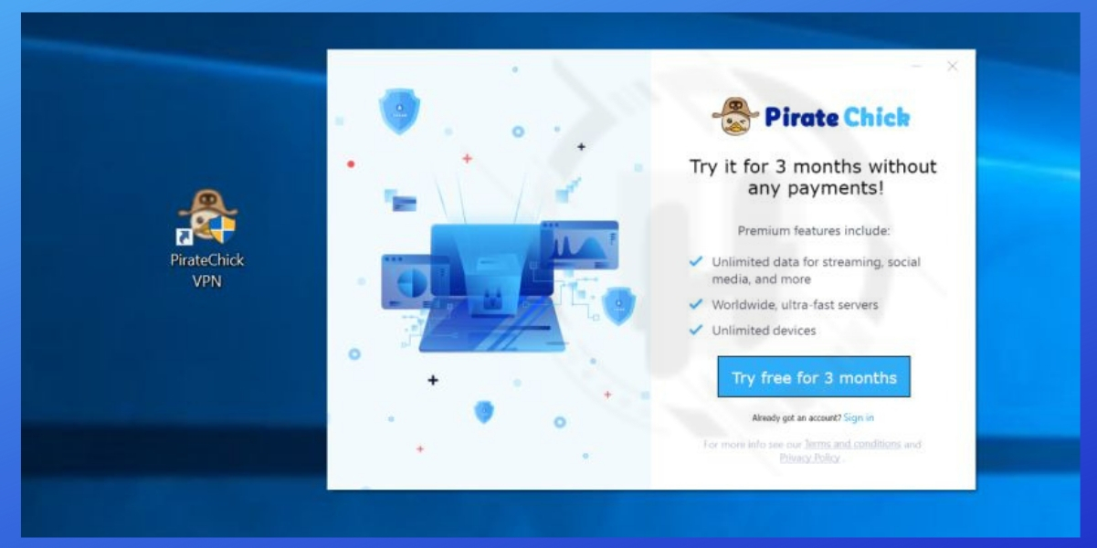 Pirate Chick VPN Can Be Used To Install Trojan Threats