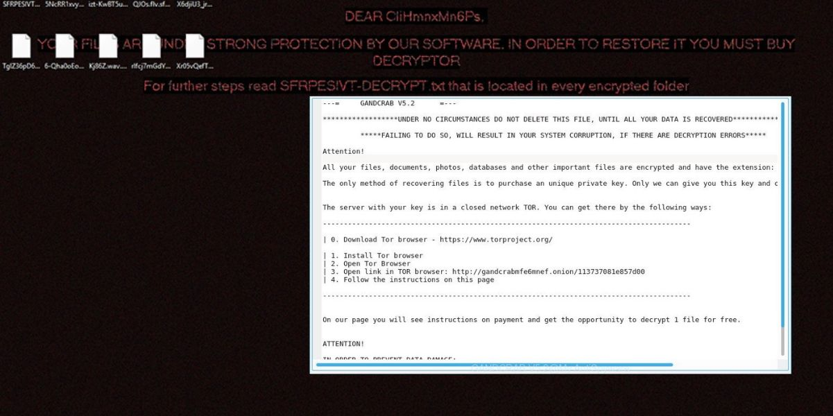 GandCrab v5.2 Ransomware