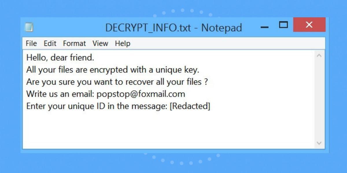 CAGO ransomware named DECRYPT_INFO.txt