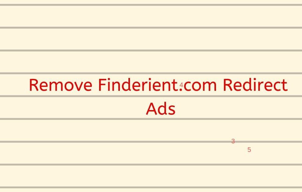 Remove Finderient.com Redirect Ads