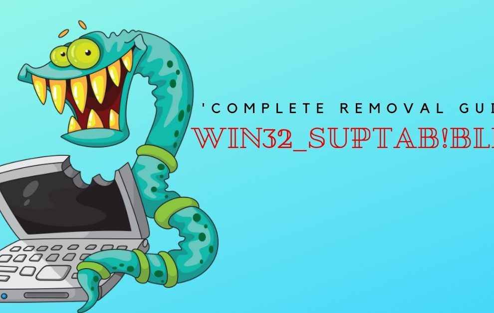 Remove Win32_suptab!blnk Virus
