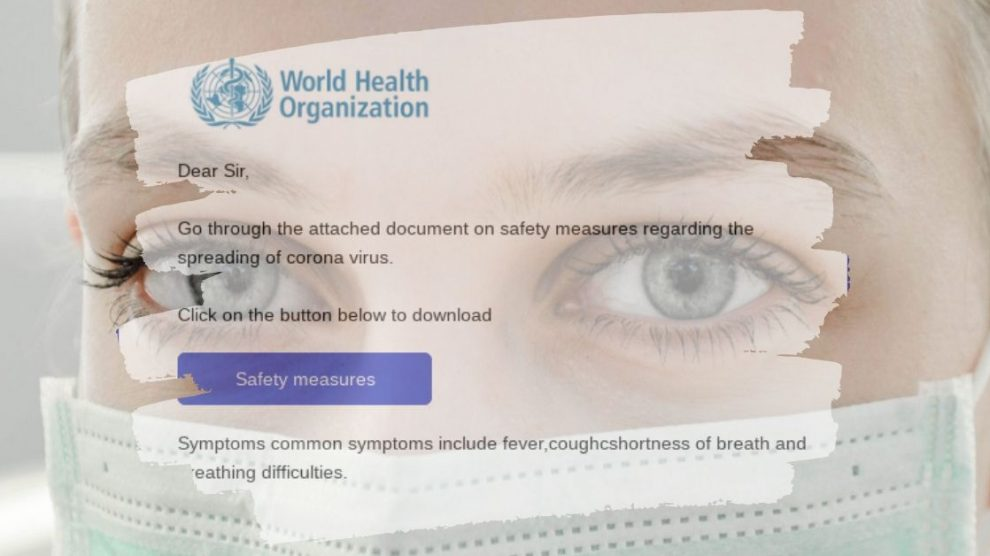 """Coronavirus """"Safety Measures"""" Email Scam"""