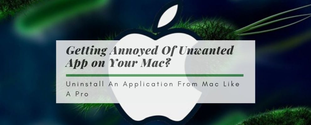 How to Uninstall An Application From Macbook Pro