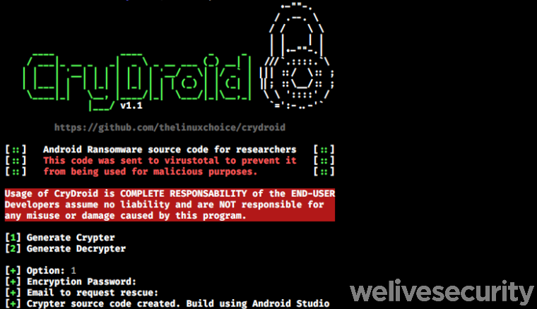 CryDroid Android Ransomware
