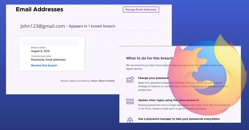 Firefox Monitor What to do for this breach