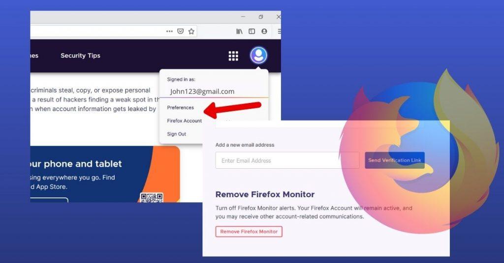 Remove Firefox Monitor