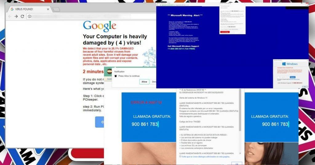 Delivering Tech Scam Pop-ups via Porn sites