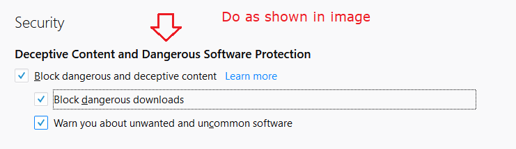 How to block unwanted software program from being downloaded on Firefox browser