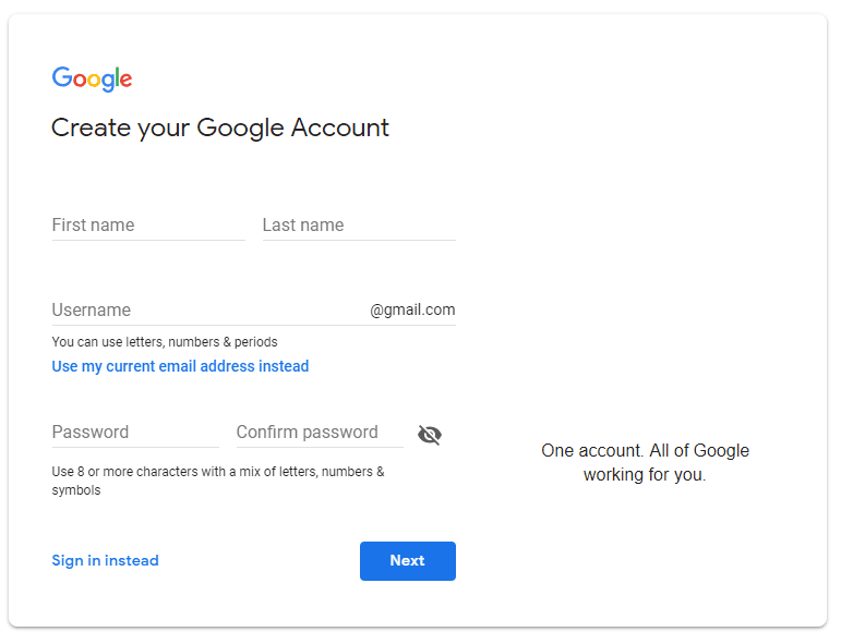 How to Create Google Account
