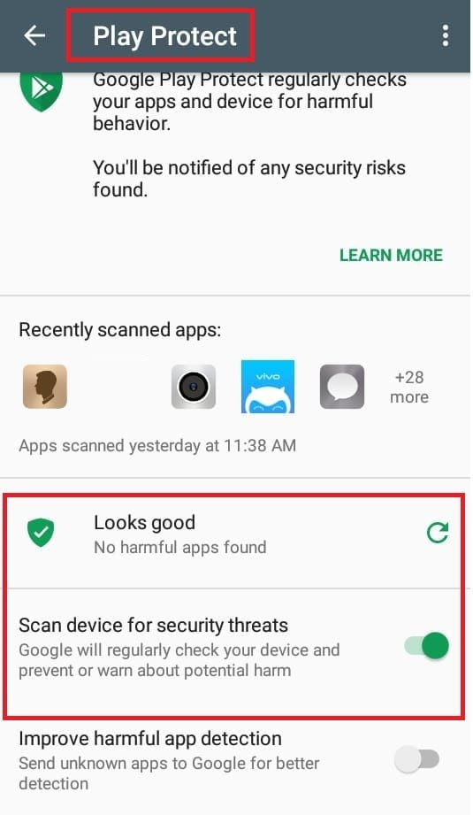 enable google play protect step3