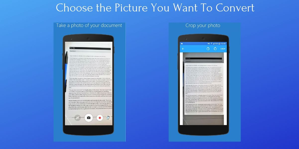 How to Convert Image to Word on Android Device Step 2