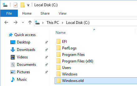 Windows Old Folder In Windows OS