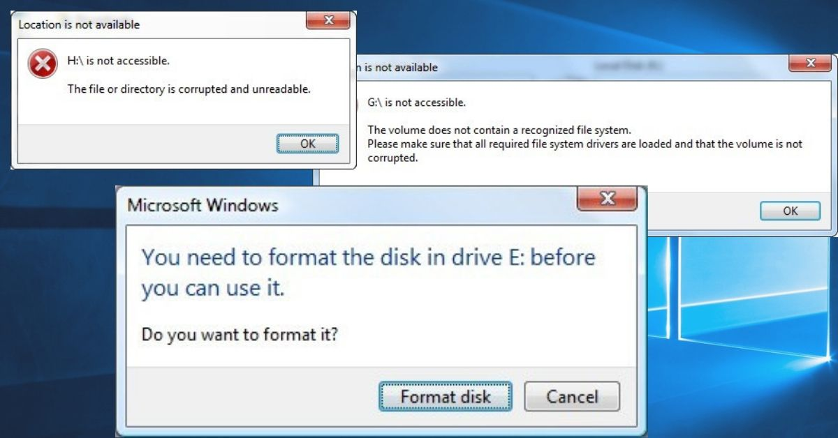 How To identify if a hard disk becomes RAW