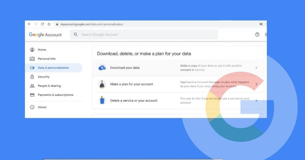 Google Download Your Data