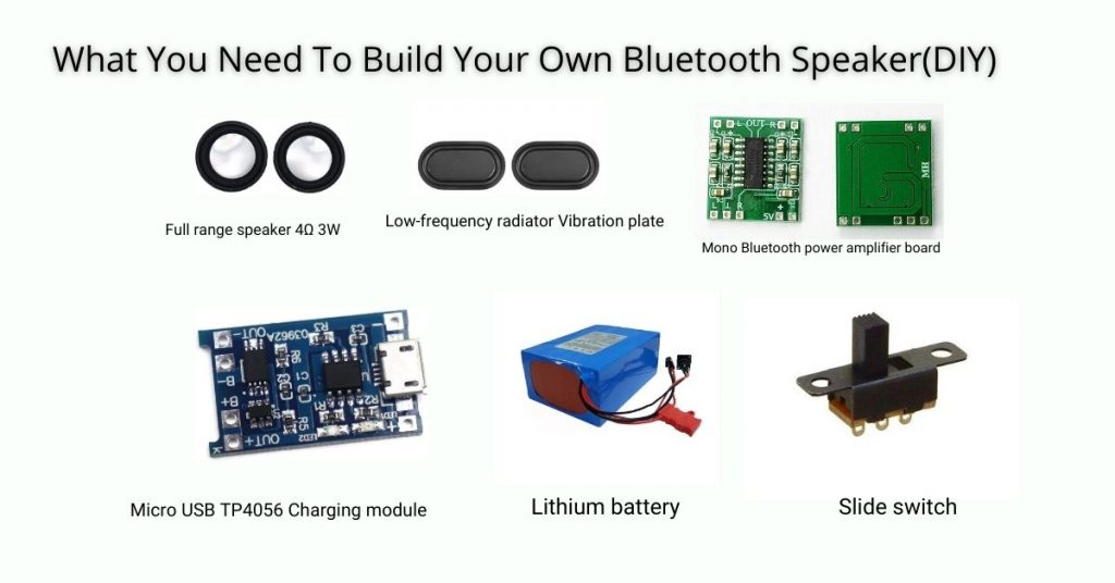Things You Need To Build Your Own Bluetooth Speaker
