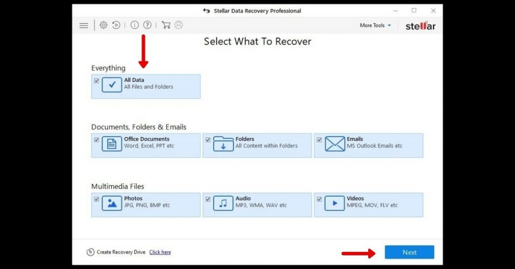 Data Recovery from corrupted pen drive step 1